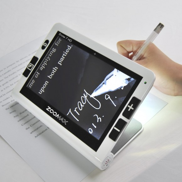 Zoomax Snow Handheld Electronic Magnifier For Writing